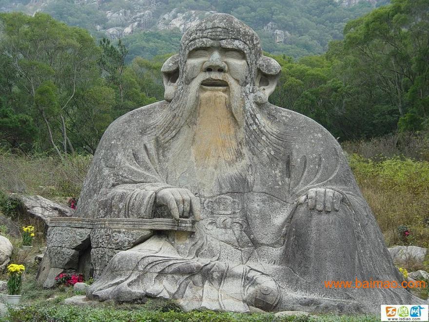 石雕太上老君像,老子石雕老子雕像,孔子像等