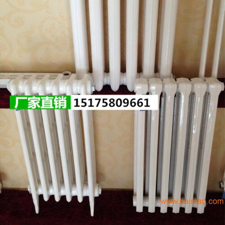 暖氣片三柱750暖氣片家用老式鑄鐵噴塑烤漆銀粉內腔