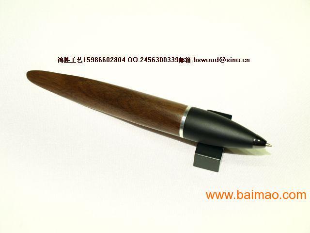 木笔 海豚形胡桃木木笔型号 98651