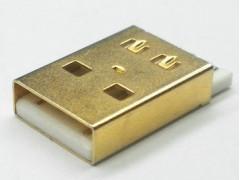 供应USB插座2.0 A公短体焊线 正 反向 镀金