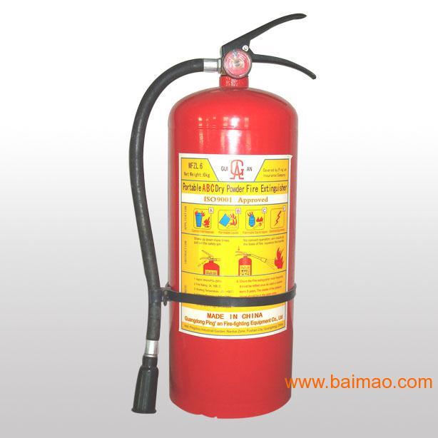 4.干粉灭火器适应火灾和使用方法