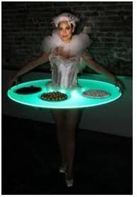 厦门互动性美女LED发光美女,厦门互动性美女件内衣图片不留脱餐桌图片