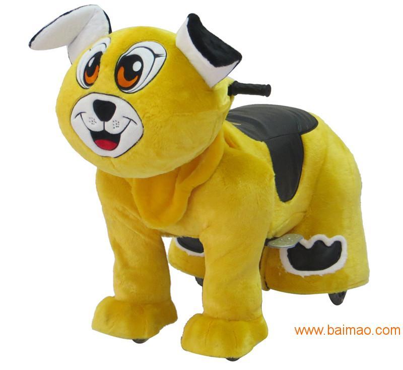 喜羊羊毛绒电动车、动物电动玩具车,小孩子玩具