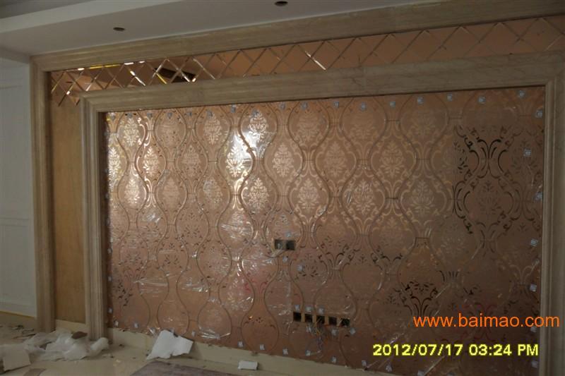 拼镜玻璃背景墙