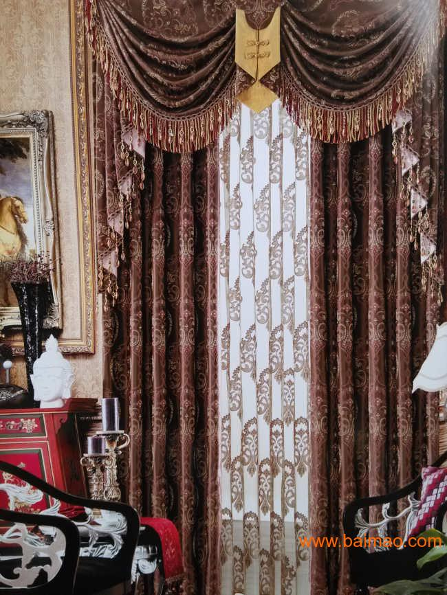 低调华丽欧式窗帘