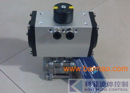 Q611F不锈钢高平台气动三片式球阀、气动阀门