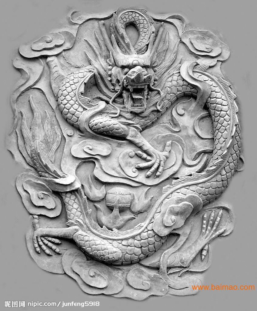 龙壁 五龙壁 人物浮雕 动物浮雕 花草浮雕 景观生产厂家
