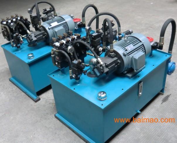 小型液压系统泵站油缸成套设备图片