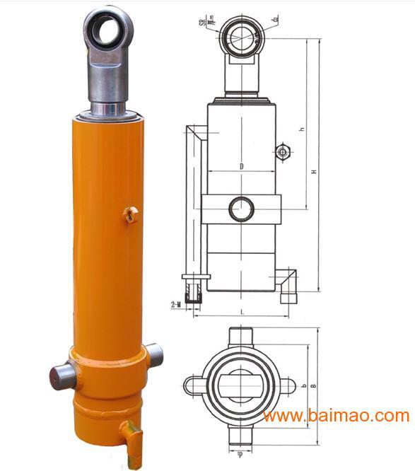 产品介绍适用于各种类型的自卸汽车,是一种单作用多级液压缸,它的图片