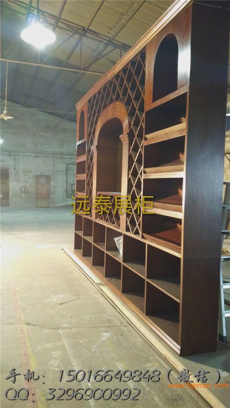2016福田红酒柜柜夹板饰面酒柜制作工厂案例