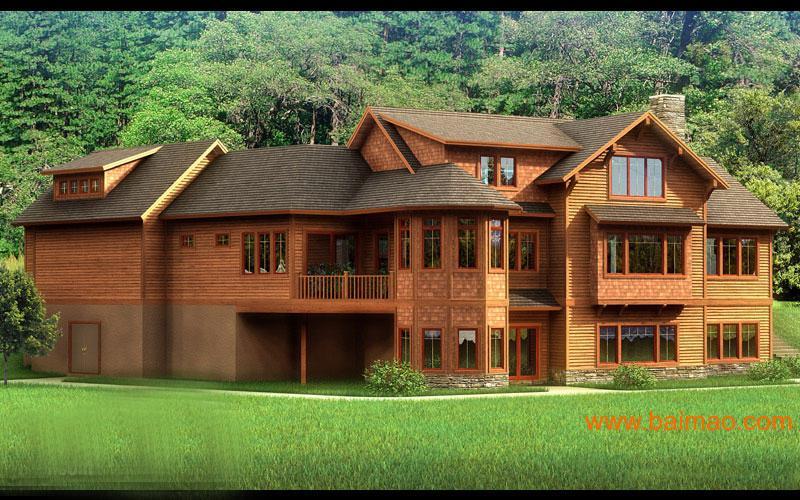 木结构 别墅 房屋