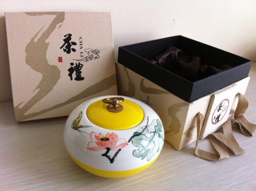 厦门红地汇茶叶礼盒--陶瓷罐