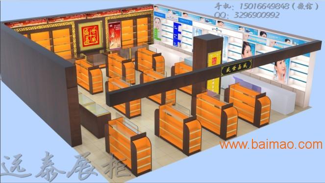 2016热门展示柜定制阿胶展柜专业制作工厂
