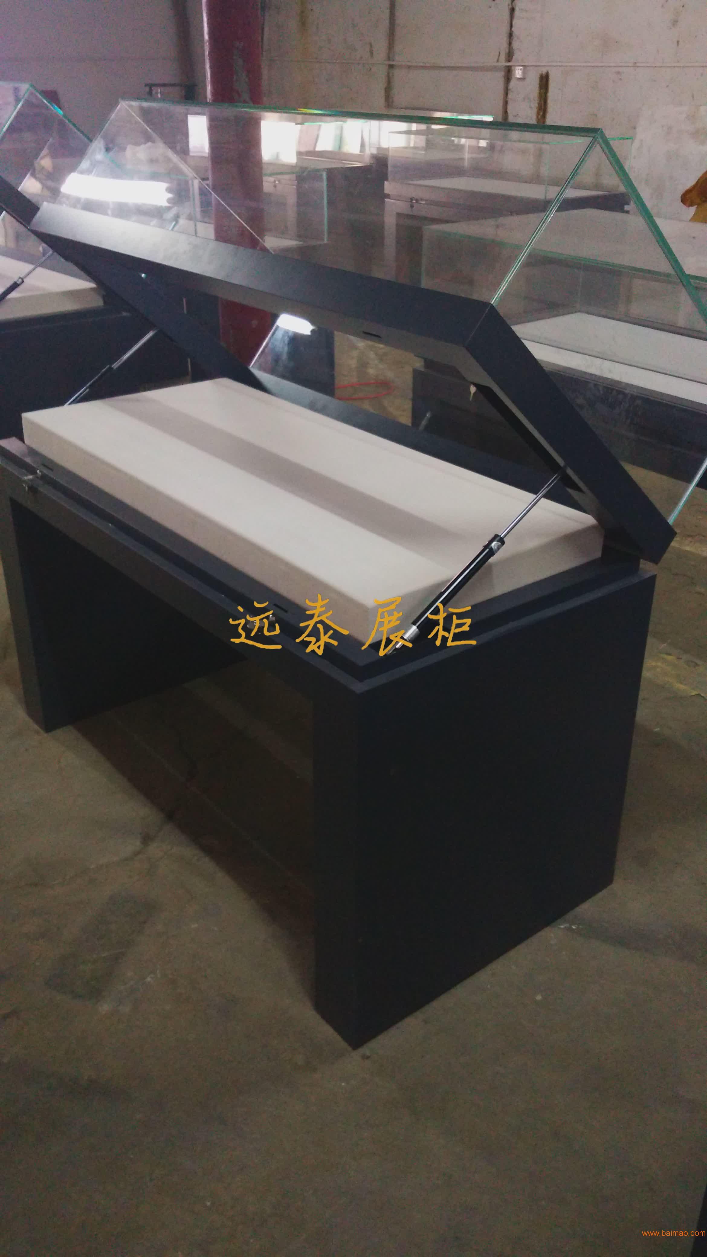 2016热门定制钢板掀起式博物馆展示柜文物档案柜