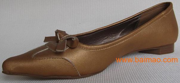 新品单鞋 2011外贸原单真皮平跟女鞋平跟鞋子