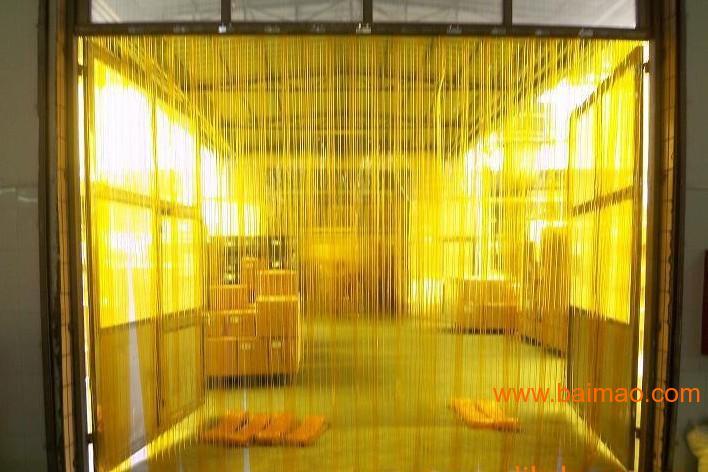 餐饮用的黄色软门帘供应,价格优惠