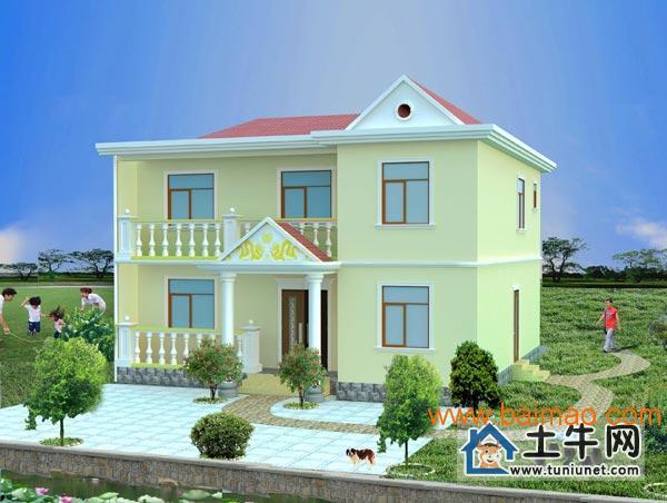 M1004阳台带房屋小二层v阳台图纸,别墅蚊帐设农村图纸图片