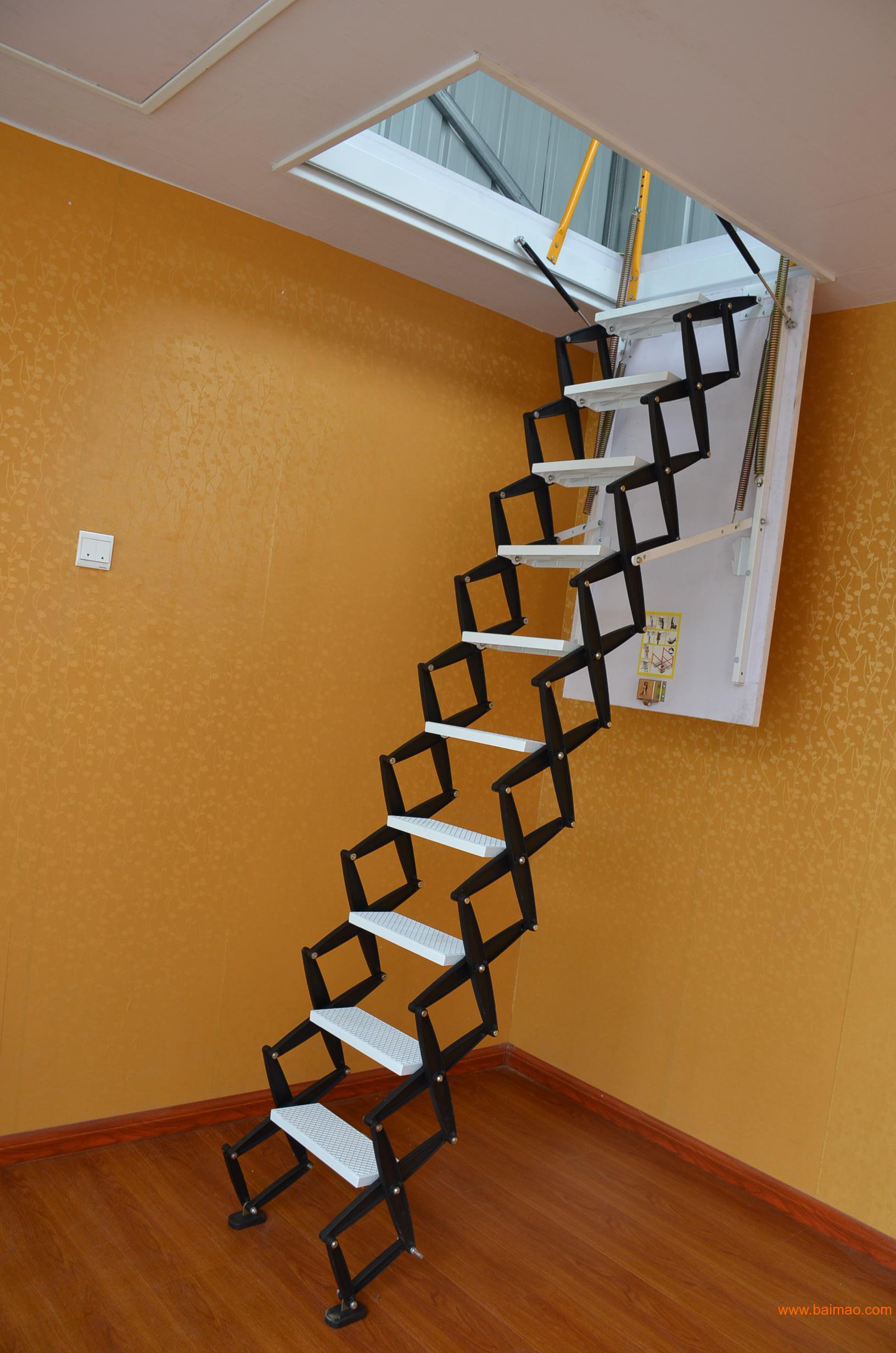 艾达阁楼伸缩楼梯 镁合金室内隐形伸缩楼梯 阁楼楼梯厂家/批发/供应商图片