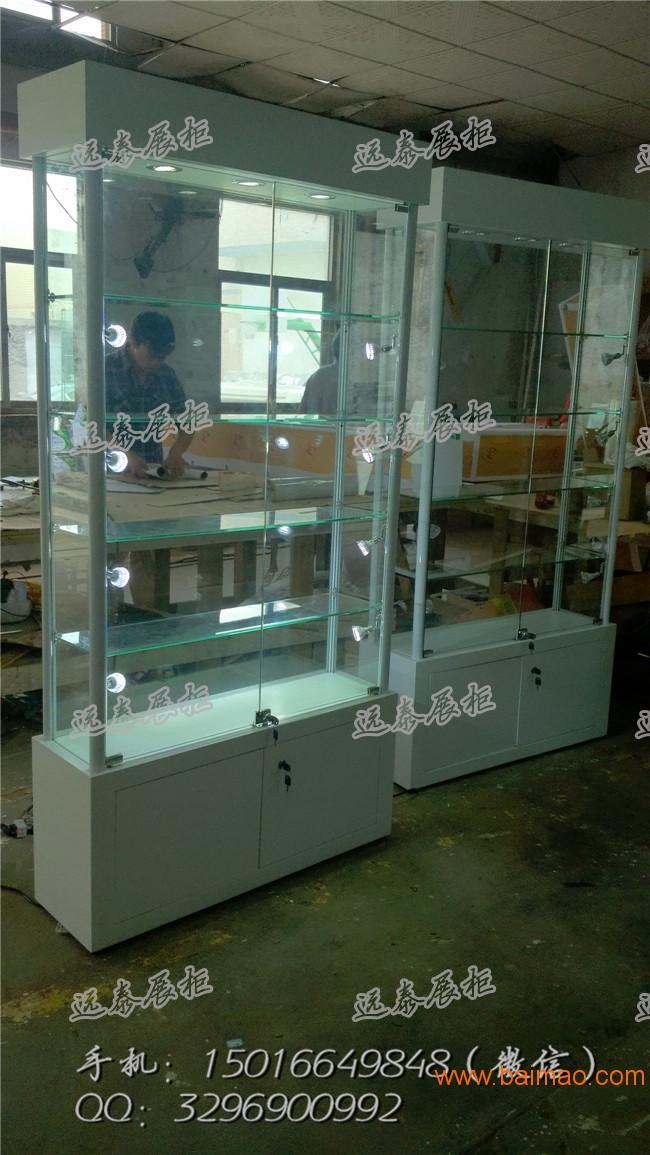 2016热门定制LED可调节展示柜玻璃展示柜定制