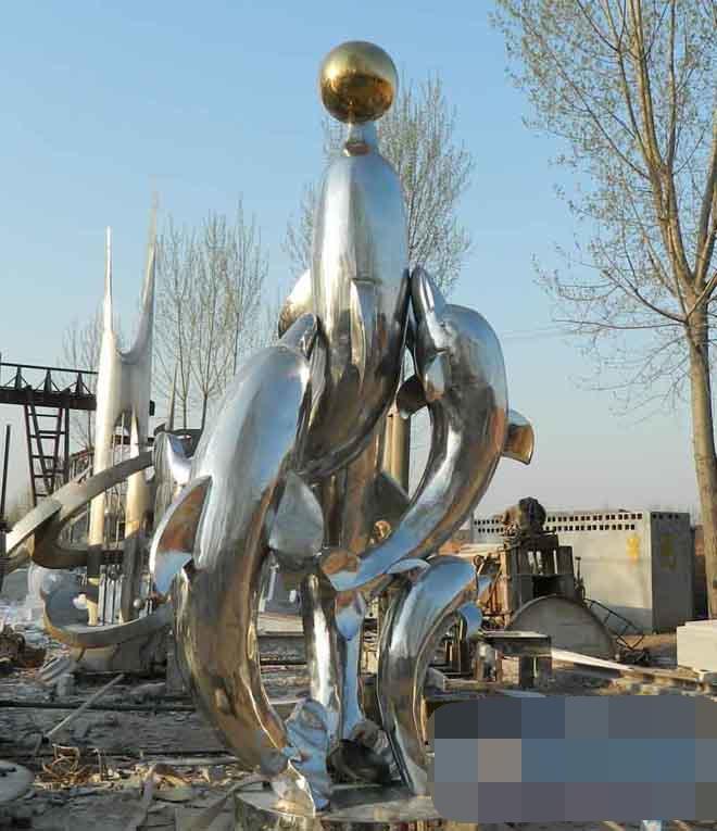 不锈钢动物雕塑商场美陈雕塑
