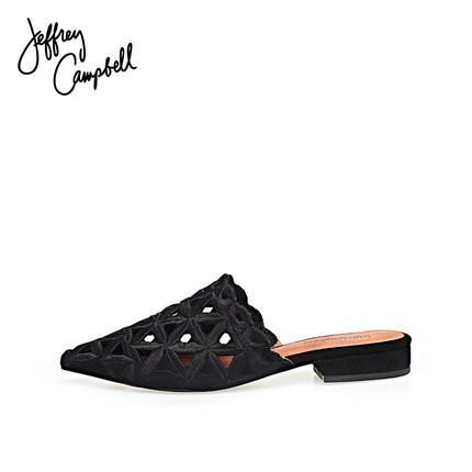 美國時尚流行女鞋  鏤空拖鞋