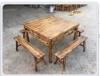 炭烧家具火烧桌椅古香古色茶楼台凳仿古农庄户外桌椅水
