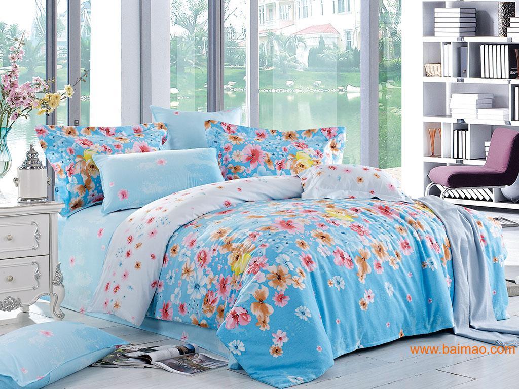 床上用品四件套床笠款|床笠四件套批发|床上用品批发