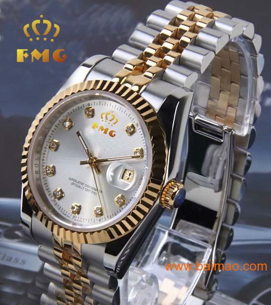 廠家直銷男士手表 機械表 不銹鋼手表 真皮手表批發
