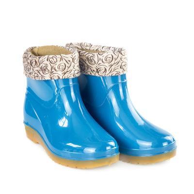 女式短筒pvc雨鞋