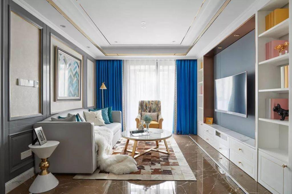 西安旧房翻新98㎡现代古典欧式风巧妙的收纳设计