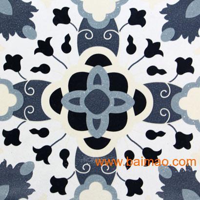 印象派西班牙风格地砖仿古砖欧式陶瓷砖仿古砖陶瓷小花图片