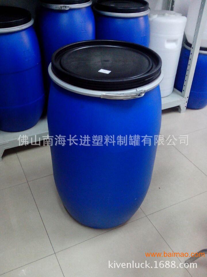 厂家供应200L铁箍桶 供应广州200L铁箍开口桶