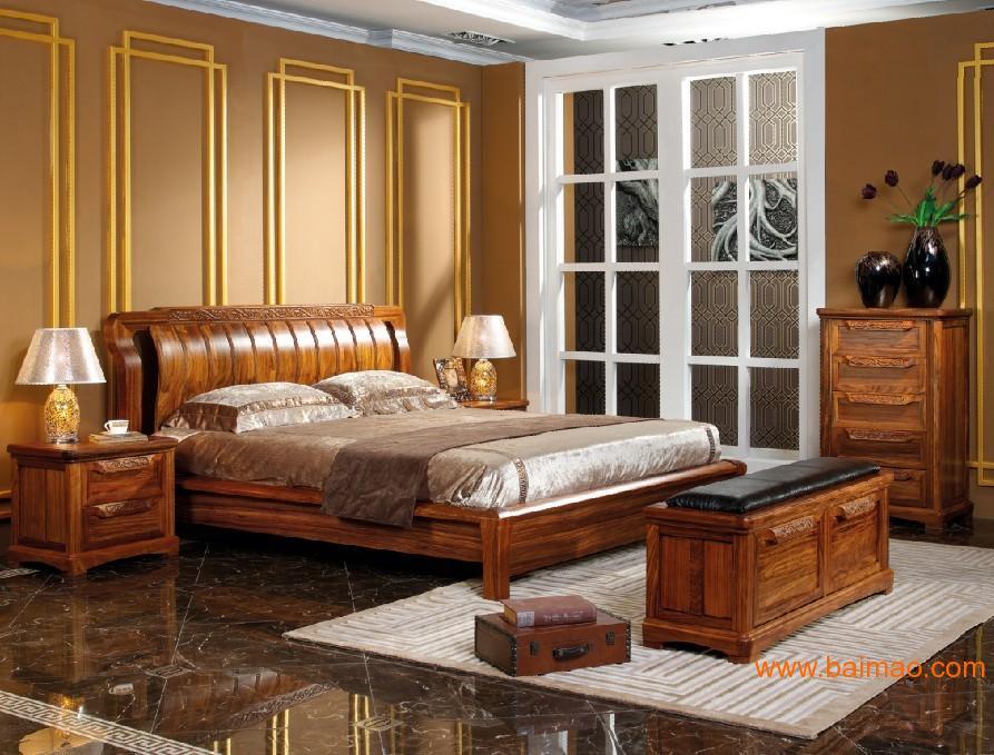 榜样中国时尚中式实木床图片