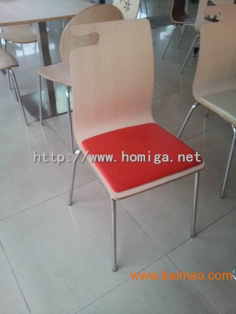 软座弯木餐椅, 带皮垫弯木餐椅,广东餐椅厂家定做