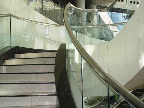 不锈钢玻璃扶梯手