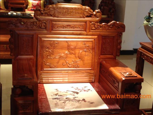 年红铭华红木 大果紫檀 财源滚滚沙发,上海年年红铭华红木 大果紫图片