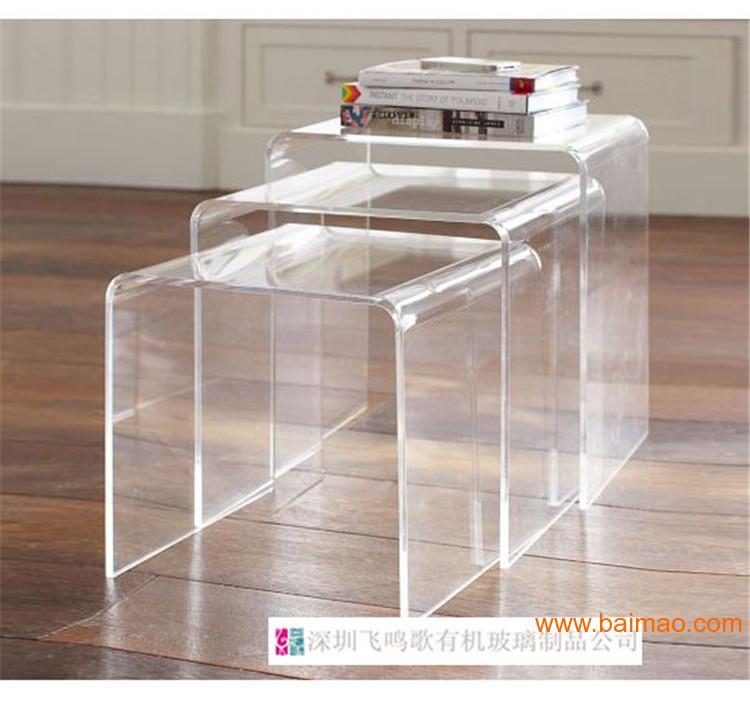 几 亚克力U形展示架 有机玻璃家具定制-深圳飞鸣歌有机玻璃制品公