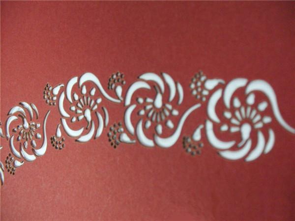 纸制品雕花激光切割