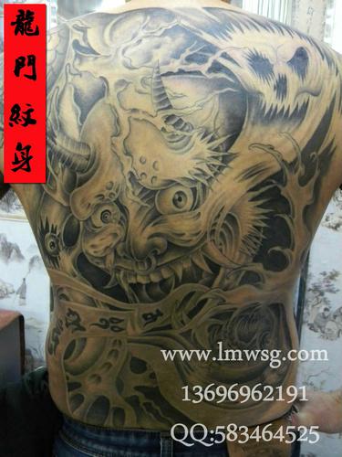 以下满背鬼头刺青图案是由厦门龙门纹身馆提供的,如果您对满背鬼头