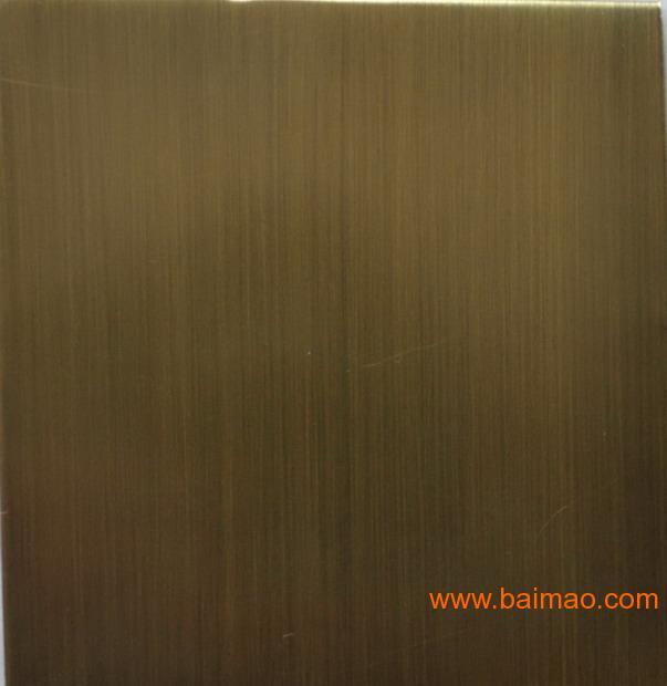 不锈钢表面拉丝处理_管材经抛光或拉丝处理后,进行表面电镀酒色后的不锈钢装饰材料.