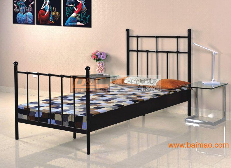 HXB-04单人床,公寓铁床,酒店铁床,