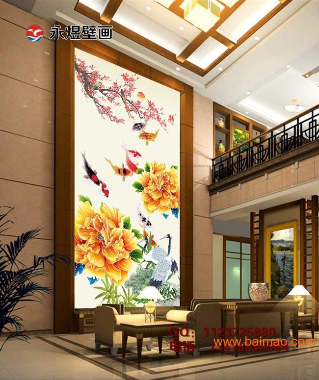 风景图墙纸壁画 玄关图墙画定制 高清数码印刷壁画 ,风景图墙纸壁画