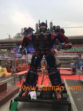 擎天柱大型变形金刚机器人金属汽车模型摆件招人神器3