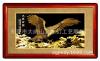 供应批发金之幻24K手工雕刻画,金雕画/大展宏图