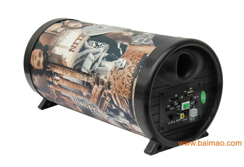 5寸圆形汽车低音炮,汽车低音箱生产厂家高清图片