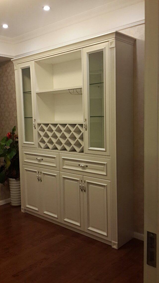 我想做个客厅装饰酒柜,宽度3米的,高度1.