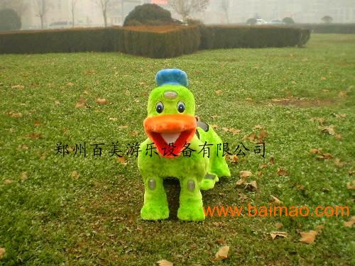 小飞象双排双人毛绒电动车 儿童毛绒玩具车厂家直销生产厂家高清图片