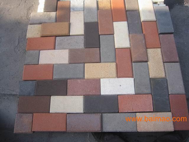 供应透水砖 仿青石板地砖,植草地砖 ,彩色人行道地砖,路缘石 检