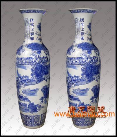 供应生产手绘青花陶瓷大花瓶
