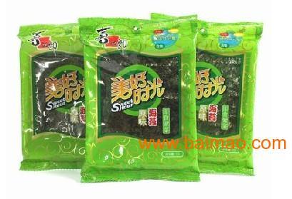 喜之郎美好时光海苔原味3g90包/箱92元图片